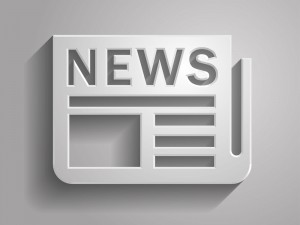 3d Vector illustration of news icon