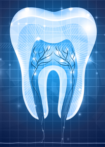 Blue light tooth