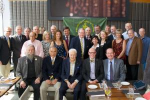 Front Row (L-R): W. Hettenhausen, MF  M. Suzuki, MF  F. Cappa, J. O'Keefe Middle Row:  N. Ironstone, K. McLister, M. Dekanoidze, J. McLister, D. Brode, L. Tompkins, K. VanRyswyk, P. Fendrich, K. Wright Back Row:  Regent d. Smith, B. Clark, A. Boccia, C. Friedman, K. Romanson,  P. Romanson, V. Zogala, R. Caldwell, P. DeGiacomo, R. Kreher, E. Hatfield, I. McConnachie Absent: L. Levin